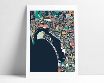 San Diego Map, San Diego Print, Abstract Art, San Diego City Map, San Diego Map Poster, San Diego Map Print, San Diego, Map, Wall Art Decor