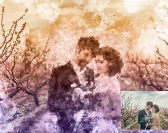 Couples Portrait Photo Print | Wedding Portrait Print | Custom Portrait Photo Print | Valentine's Day Gift | Anniversary Gift | Gift for Her