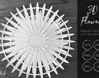 3D Flower SVG 5