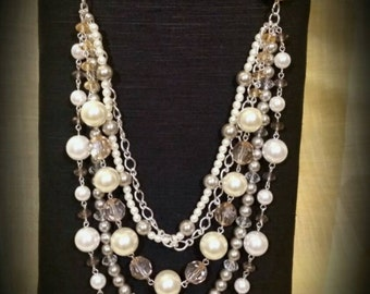 After Life Accessories Repurposed Layered The Reynolds Necklace