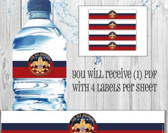 DIGITAL Eagle Scout water bottle labels