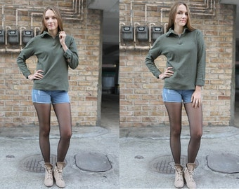 French army norgie top base layer under shirt olive undershirt olive underwear