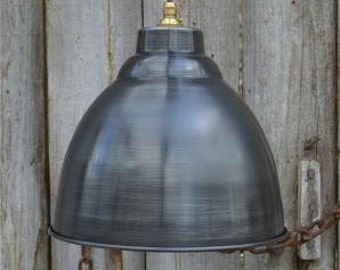 Industrial aged steel ceiling light shade DSG3