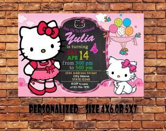 Hello Kitty Invitation,Hello Kitty Birthday Invitation,Hello Kitty Birthday,Hello Kitty Printable,Hello Kitty Party,Digital Printable