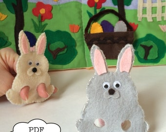 Bunny Rabbit,  Finger Puppet PDF Pattern |  PDF | Finger Puppet