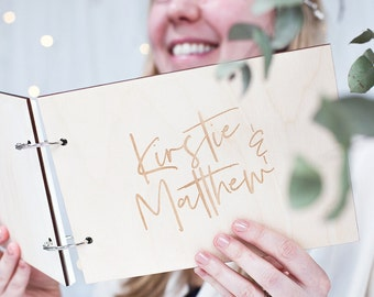 Personalised Couple's Wedding Day Guest Book - Wedding Guest Book - Wedding Photo Album - Wedding Gift - Engagement Gift - Modern Wedding