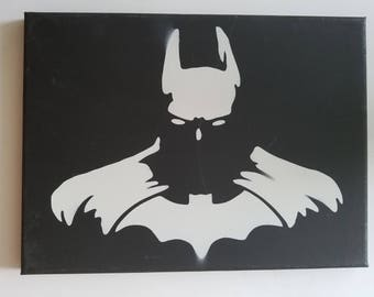 Batman Spray Paint Canvas