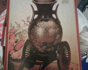 Fine Ceramic Flower Vase with Cart