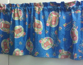 Window Curtain and Valance Welcome There is No key to Happiness The door is always open