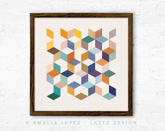 Geometric 2. Nordic design Scandinavian art geometric print modern print abstract print minimalist art geometric art nordic print