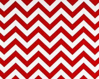 ZigZag Chevron Lipstick Red | Premier Prints fabric | Cotton Twill Home Dec
