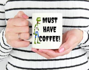 Zombie Mug, Zombie coffee mug, Zombie gift, horror mug, zombie lover gift, cute coffee mug, i love zombie, zombie cup