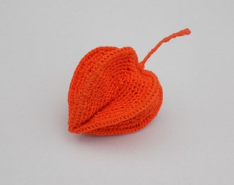 Tutoriel Physalis amour en cage, lanterne chinoise au crochet, tuto fleurs au crochet, fleur décorative crochetée, pendentif bijoux crochet