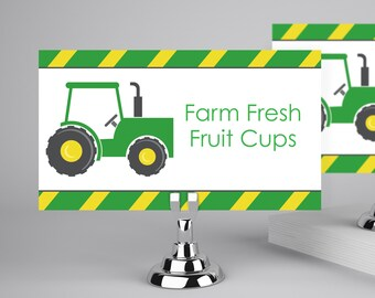 Printable Food Tents, Food Labels for a Tractor Party  INSTANT Download