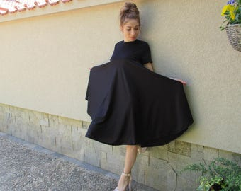 Maxi Elegant Black Dress - mod RONI  Unique Sophisticated Extravagant Dress,perfect for different events,parties , dinners...weddings
