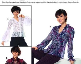 Burda 7597 Size 8-20 Misses Blouse Sewing Pattern / Uncut/FF