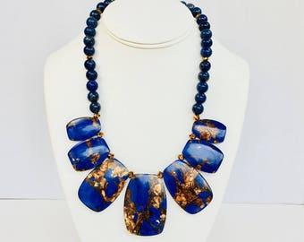 Lapis Lazuli Necklace // Lapis lazuli // Lapis Lazuli Pendant // Blue Lapis // Lapis Necklace // One-of-a-Kind // Handmade // Birthday Gift