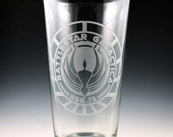 Battlestar Galactica Logo Pint Glass