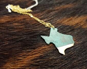 Large Texas Shaped Necklace
