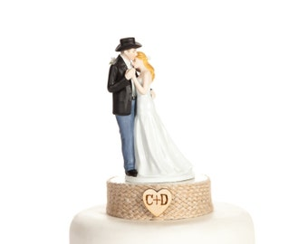 Personalized Western Bride and Groom Wedding Cake Topper - 102061