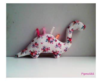 Decoration / white flower pattern dinosaur blanket