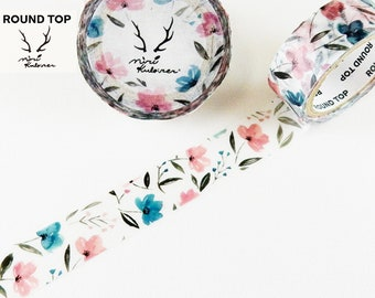 15mm width | Round Top - MiriKulo:rer - Flower 3 Washi Masking Tape