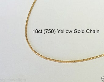 18ct 18K 750 Solid Yellow Gold Foxtail Link Chain Necklace for Pendant Jewellery