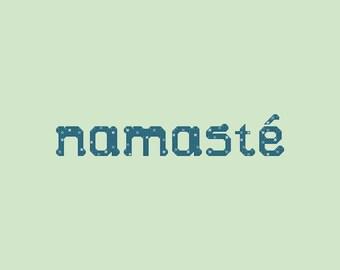 Teal Namaste Cross Stitch Pattern PDF Digital Download