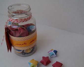 jar of origami wishing stars--Moti stars
