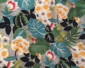 Covington Jungalow Style Fabric Home Decor Upholstery - Tropical Jungle - 2.33 yards continuous