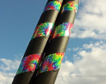 NEW Tie Dye Sparkle Collapsible Hula Hoop // Made to Order // ANY Size  // Great Gift