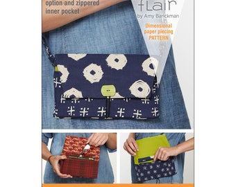 "Pattern ""Pocketbook Wristlet Fabriflair Pattern"" by Indygo Junction #IJFP201 Paper Pattern"