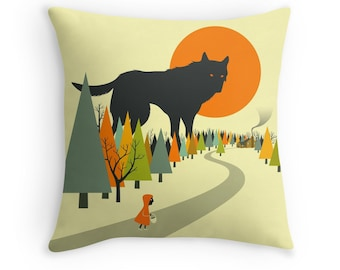 RED RIDING HOOD (Throw Pillow for the Home Décor)