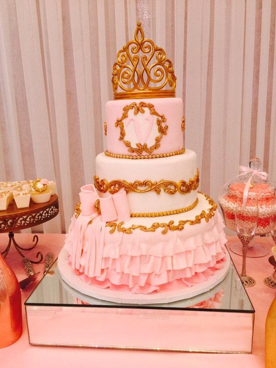 Tiara Cake Topper Crown Cake Topper Gold Crown Cake Topper-4522