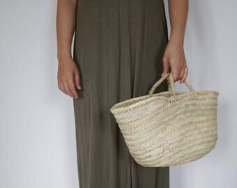 Strohkorb, mittlerer Größe, Stroh Tasche, Strandtasche, Aufbewahrungskorb, Markt-Tasche, panier Paille, Strohkorb, Cesta de Paja, Markttasche.