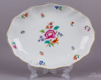 Herend Nanking Bouquet Multicolor Small Oval Dish