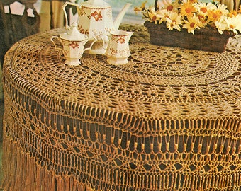 Thread Crochet Pattern / Crochet Tablecloth Pattern / Crochet Home Decor / Housewarming Gift Idea / INSTANT Download Pattern PDF (1702)