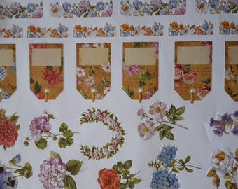 Stickers flowers labels