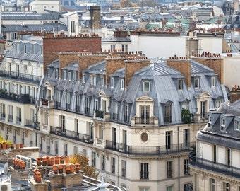 Paris photography, Paris rooftops, rooftops, Paris view, Paris in color, French rooftops, Paris decor, home decor, fine art print