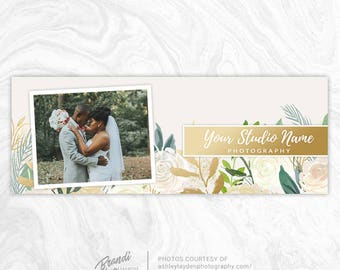Facebook Timeline Cover PSD Template - Photography Facebook Cover - Facebook Cover Photo - Facebook Banner - Wedding, Holiday, Flowers - FB1