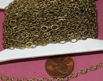 32 ft spool of Antiqued Brass Figure 8 Chain 5x3.5mm