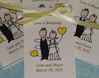 Bride & Groom Bridal Shower  Wedding Flower Seeds Party Favors SALE CIJ Christmas in July