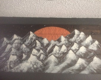 String art mountains