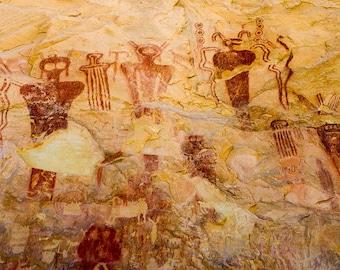 16x20 Southwest Photography, - Canvas Print - Ute Petroglyphs, Utah Photography