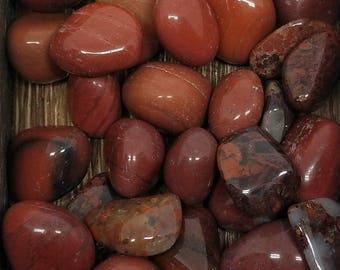 ZETÏ'S BLESSED & SAGED Natural Tumbled Red Jasper Gemstone for Willpower