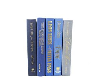 Blue ombre Decorative Books, Old Book set, Wedding Decor Centerpiece, Home Design, Antique Book Collection, Book Decor, Interior Design