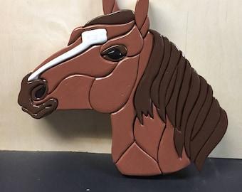 Intarsia Horse Head
