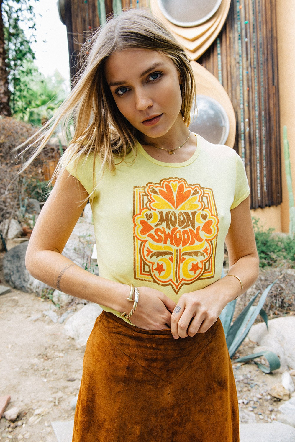 Moon Swoon Vintage 70s T Shirt Womens