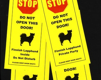 Finnish Lapphund's Friendly Alternative to Beware of Dog signs