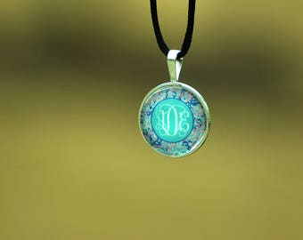 Monogrammed Pendant Necklace